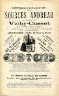 01.AIN.VICHY-CUSSET.DOCUMENTATION 4 PAGES POUR LES SOURCES ANDREAU. - Food