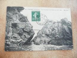 PRIMEL - La Crevasse Et Le Pont Vue De La Mer - Primel
