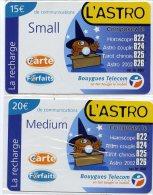 @+ Série De 2 Recharges Bouygues Telecom Caraïbes Différentes - DOM - L'Astro (15 Et 20€) - Antilles (Françaises)