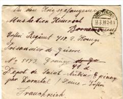 14 18-courrier De GOTTINGEN Allemagne Pour P G Allemand Au Dépôt De Saint-Aubin-Epinay 76 - 1914-18