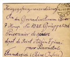 14 18-courrier De CALAU Allemagne Pour P G Allemand Au Dépôt De Saint-Aubin-Epinay 76-Cachet - 1914-18