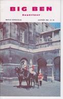 BIG BEN N° 44, Janvier 1968,  SUPERIEUR, Revue Mensuelle POUR APPRENDRE L´ANGLAIS, Publication Claude PICHON - Livres, BD, Revues