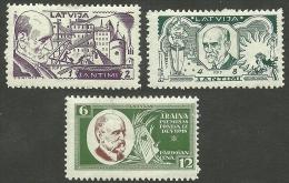 LATVIA Lettland 1930 J. Rainis Michel 154 - 156 A * - Latvia