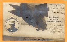 Graff Zeppelin Luftschift 1908 Real Photo Postcard - Dirigibili