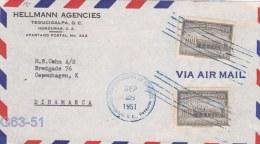 Cover From Honduras Posted Tegucigelpa 28.9.1951 To Denmark (G63-51) - Honduras