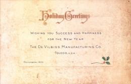 VERY OLD & VINTAGE GREETINGS CARD - 1920 - HOLIDAY GREETINGS - PRINTED AT U.S.A. - Magnets