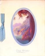 VERY OLD & VINTAGE GREETINGS CARD - 1927 - CHRISTMAS GREETINGS - PRINTED AT GREAT BRITAIN - Magnets