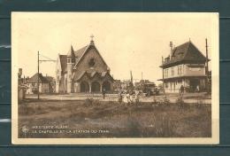 WESTENDE : La Chapelle Et La Station Du Tram,  Gelopen Postkaart  (GA12175) - Westende