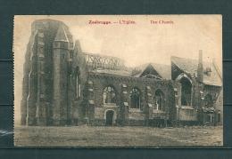 ZEEBRUGGE : L'Eglise,  Gelopen Postkaart 1919 (GA12186) - Zeebrugge