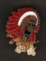 31732-Pin´s Indien..Amerique.moto.Gavroche - Motos