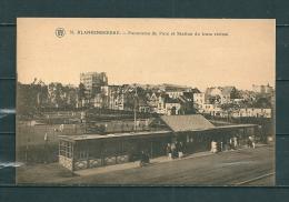 BLAKENBERGE: Panorama Du Parc Et Station Du Tram Vicinal, Niet Gelopen Postkaart (GA12587) - Blankenberge