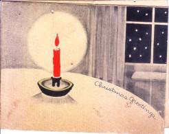 VERY OLD & VINTAGE GREETINGS CARD - 1939 CHRISTMAS  GREETINGS - PRINTED AT AUSTRALIA - Magnets