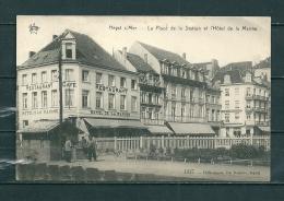 HEIST: Place De La Station Et L'Hotel De La Marine, Gelopen Postkaart 1910  (GA12816) - Heist