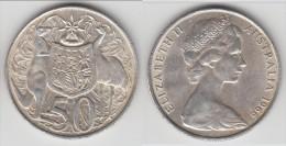 **** AUSTRALIE - AUSTRALIA - 50 CENTS 1966 ELISABETH II - ARGENT - SILVER **** EN ACHAT IMMEDIAT !!! - Monnaie Décimale (1966-...)