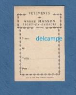Carte Ancienne De Vetements - LIGNY En BARROIS ( Meuse ) - Maison André MASSON - Imprimerie Contant Laguerre - Textile & Vestimentaire