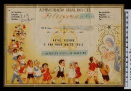 Noel Christmas Navidad 1951 Presepe Telegrams Télégrammes BF2 Paintings RAQUEL Children Portugal Sp3020 - Christmas