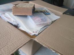 Box 10.7 Kg, Stamps, Envelopes And Other Materials. - Francobolli
