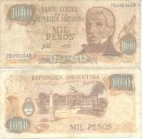 1000 PESOS MIL PESOS - REPUBLICA ARGENTINA - PROCER JOSE DE SAN MARTIN EN LA ANCIANIDAD TBE - Argentina