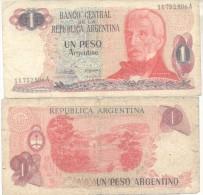 JOSE DE SAN MARTIN EN LA ANCIANIDAD REPUBLICA ARGENTINA - BILLETE 1 UN PESO ARGENTINO - Argentinië