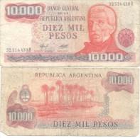 JOSE DE SAN MARTIN EN LA ANCIANIDAD REPUBLICA ARGENTINA - BILLETE 10000 PESOS - Argentina