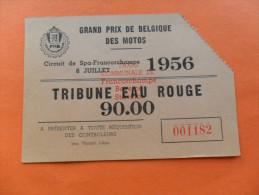1 ANCIEN TICKET / GD PRIX DE BELG. MOTOS FRANCORCHAMPS 1956 - Tickets D'entrée