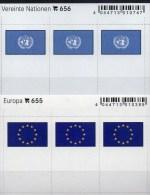 In Color 2x3 Flaggen-Sticker Europa + UNO 4€ Kennzeichnung Von Alben Karten Sammlungen LINDNER 655+656 Flags Of CEPT ONU - Photography