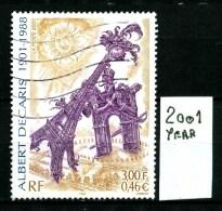 FRANCIA - QUADRI - Year 2001 - Viaggiato - Traveled -voyagè -gereist. - Oblitérés