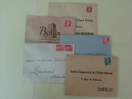 Lot De 5 Enveloppes Affranchies Non Obliterees - Marcophilie (Lettres)