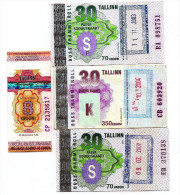 Estonia ESTLAND Transport Ticket TRAM , Bus ,trolley TALLINN  City Transport  Per Month( Lot -334) - Tram