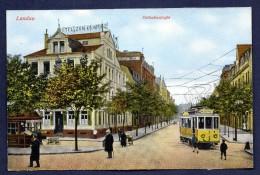 Landau. Ostbahnstrasse. Hotel Zum Kronprinz. Tramway Nr3 Neustadt - Landau