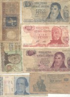 REPUBLICA ARGENTINA 7 BILLETES DIFERENTES SOLD AS IS NOTES - Argentinië