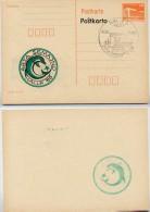 DDR P86II-9-88 C16 Postkarte Privater Zudruck ABKLATSCH Esperanto Halle Sost. 1988 - Esperanto
