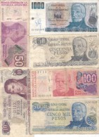 REPUBLICA ARGENTINA 6 BILLETES DIFERENTES SOLD AS IS - Argentina