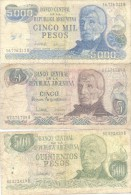 REPUBLICA ARGENTINA 3 BILLETES DIFERENTES SOLD AS IS - Argentina