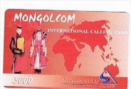 MONGOLIA - MONGOLCOM (REMOTE) -  NOYON SULD: MAN & WOMAN 5000     - USED °- RIF. 8054 - Mongolia