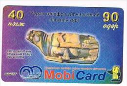 MONGOLIA - MOBICOM (REMOTE) - STATUE     - USED ° -  RIF.  8056 - Mongolië