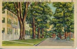 State Street Looking Toward Longfellow Square - Portland - Maine - Portland