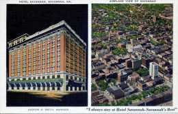 Hotel Savannah & Airplane View Of Savannah - Savannah - Georgia - Savannah