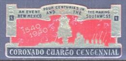 NEW  MEXICO  CORONADO  CUARGO   CENTENNIAL  1940    ** - United States