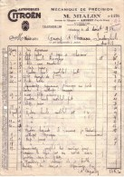 PUY DE DÔME - AMBERT - AUTOMOBILES CITROËN - MECANIQUE DE PRECISION - M. MIALON - 1933 - Cars