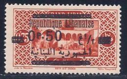 Lebanon, Scott #102 Mint Hinged Biet Et Dine, Surcharged, 1929 - Lebanon