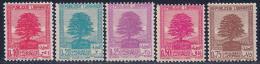 Lebanon, Scott #137-138A Mint Hinged Cedars, 1937-40 - Liban