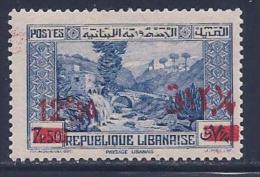Lebanon, Scott #150 Mint Hinged Dog River Panorama, Surcharged, 1937 - Lebanon