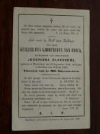 Guillelmus Godefridus Van BEECK Geb. WUESTWEZEL 25 Sep1806 Overleden BERCHEM 16 Jun 1862 ( DP ) ! - Godsdienst & Esoterisme