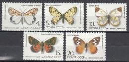 SOVIET UNION USSR URSS RUSSIA 1986 PAPILLONS SCHMETTERLINGE BUTTERFLIES FARFALLE MARIPOSAS MNH ** NEUFS GOMMA INTEGRA - Schmetterlinge