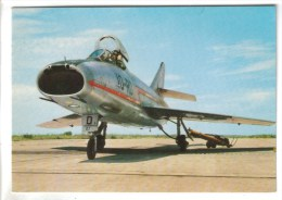 CPSM TRANSPORT AVIATION AVION - G.A.M Dassault SUPER MYSTERE Monoplace D'interception - 1946-....: Moderne