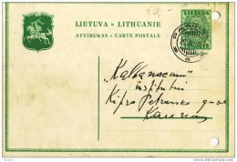 Lietuva Lithuania 1936 Kaunas Pagirys Maisymu Kaimas - Lithuania
