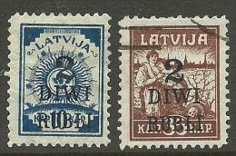 LETTLAND Latvia 1919 Michel 58 - 59 */o - Lettland