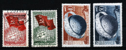 A2751) Sowjetunion Russia Mi.586-587 Gestempelt Used + Mi.1383-1384A * Unused Falz