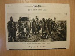 LODZ After Occupation -Russian Prisoners - Poland Ukraine   -WWI -grande Guerre 1916-18 - Military -  Print   W11 - Autres